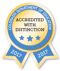 Accredited with Distinction Ribbon