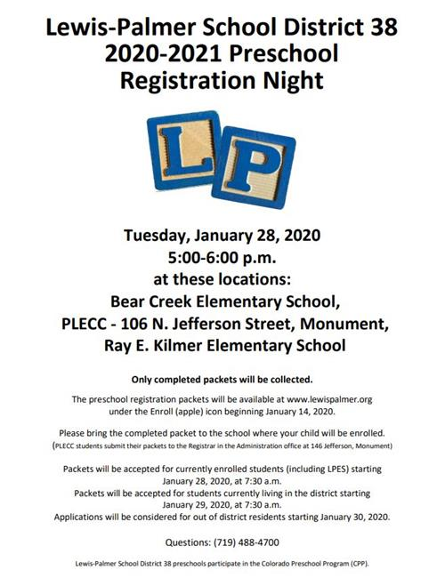 PreK Reg Night