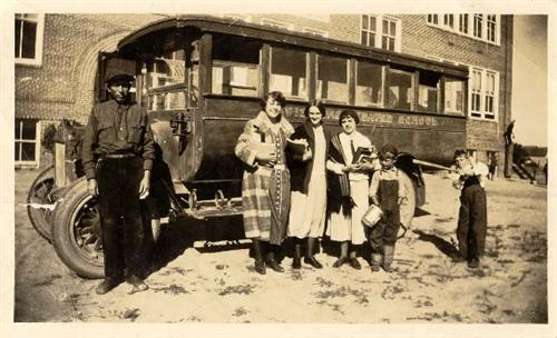 First Motorized Bus