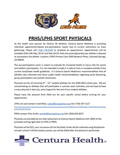 Sport Physicals Information