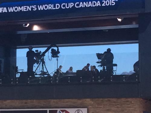The Media Center at the Womens World Cup in Canada