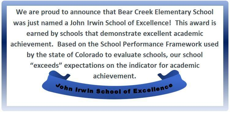 BCES - A John Irwin School of Excellence!